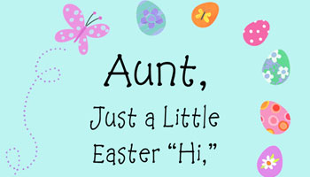 Easter Quotes for Aunt