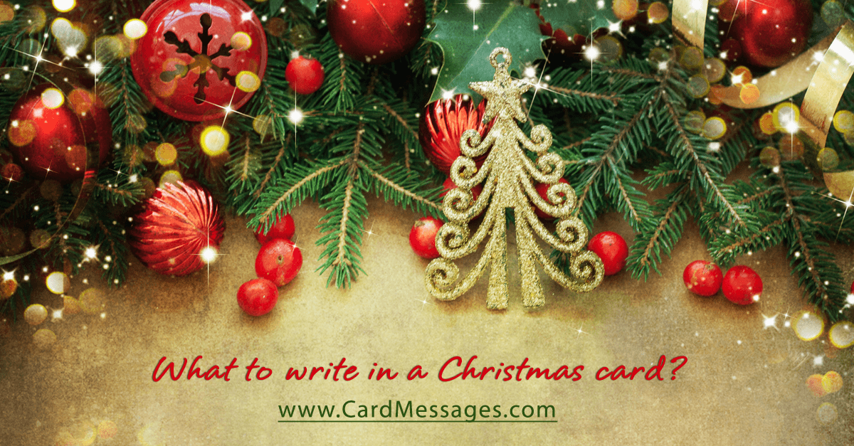 What to write in a christmas card card messages m4hsunfo