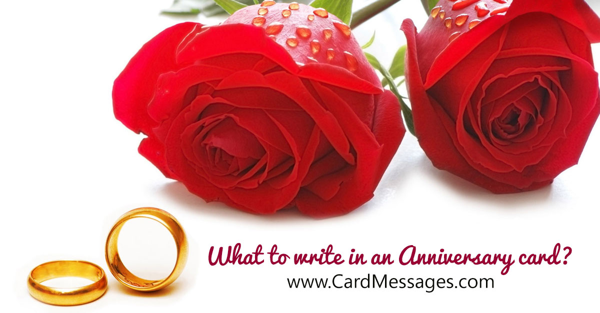 What to Write in an Anniversary Card  Card Messages