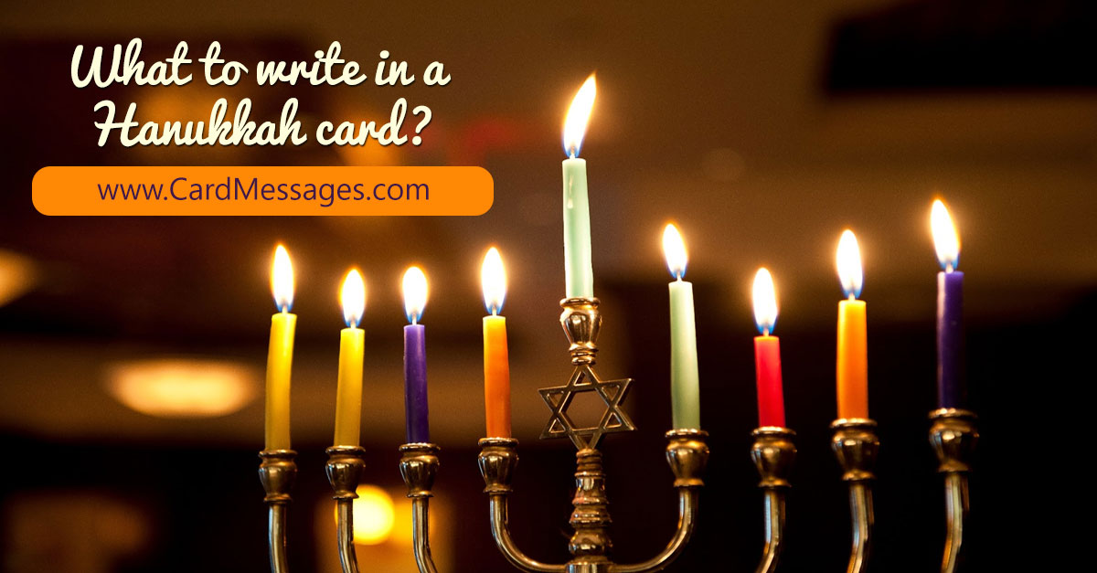 Hanukkah Messages. What to Write in a Hanukkah Card