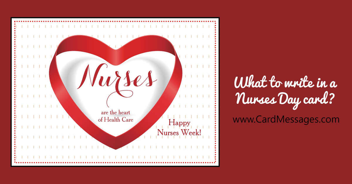 What to write in a nurses day card or note card messages m4hsunfo Choice Image