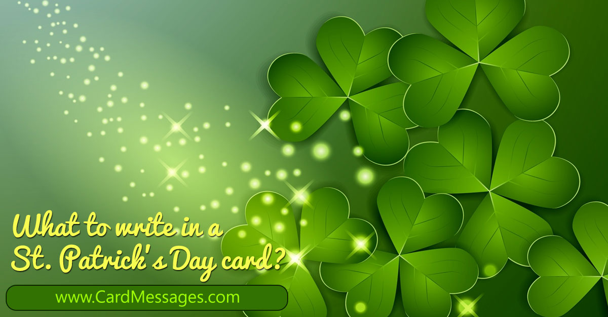 St patricks day sayings for anyone card messages m4hsunfo