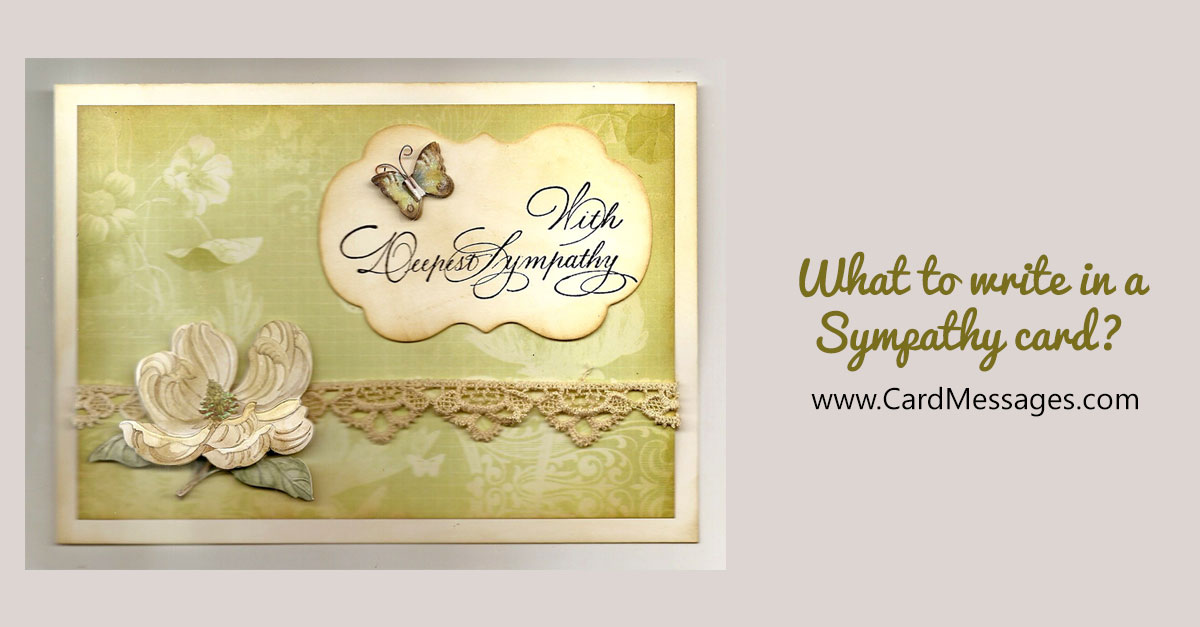writing a sympathy card