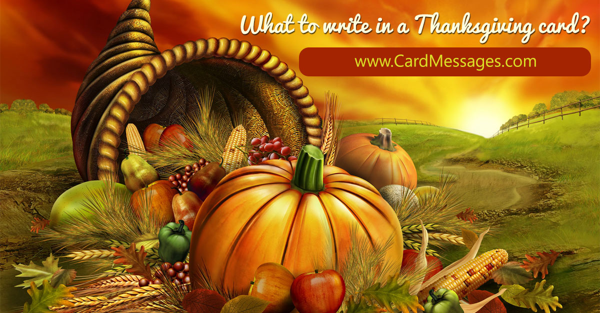 What to Write in a Thanksgiving Card? | Card Messages