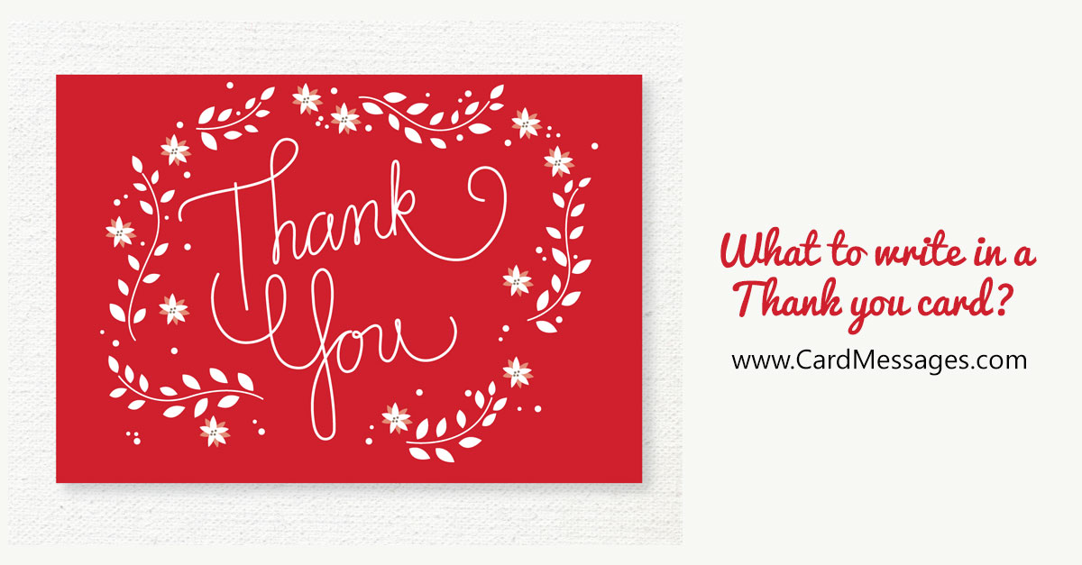 What to Write in a Thank You Card or Note? | Card Messages