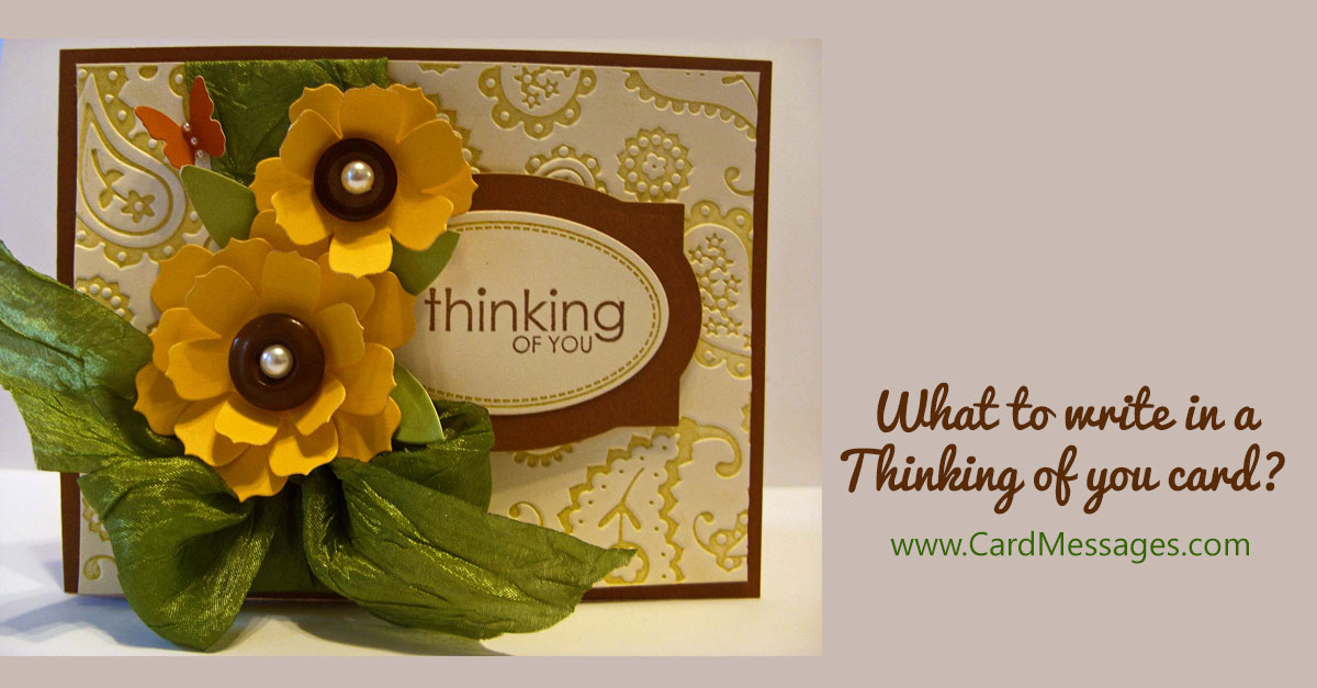 what to write in a thinking of you card