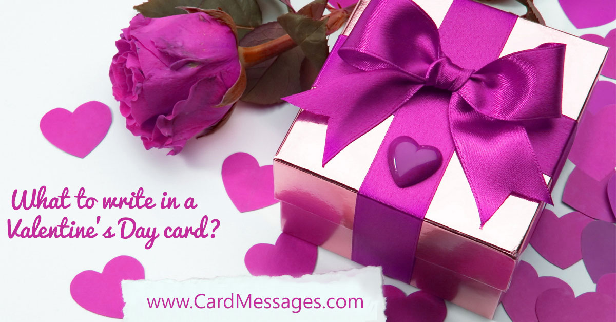 what to write in a valentine's day card? | card messages, Ideas